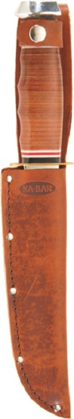 Quality Leather KA-BAR Embossed Belt Carry Sheath.