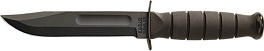 1256 KA-BAR Short 3/4 All Black Straight Edge Clip Point Fighting Utility Knife.