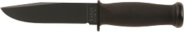 KA-BAR 2221 MARK 1 All Black Straight Edge USN Fighting Utility Knife with Multiple Mounting Hard Plastic Sheath.