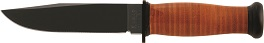 KA-BAR #2225 MARK 1 Leather Handle Straight Edge Knife