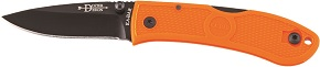 KA-BAR 4072BO Bob Dozier Blaze Orange Stainless Steel Lockback Folding Hunter Pocket Knife with Textured Grip Scales and Thumb Stud Blade.