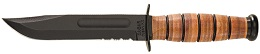 The KA-BAR 5019 United States Army Combo Edge Full Tang Fighting Utility Knife with Multiple Mounting Position Plastic Sheath.