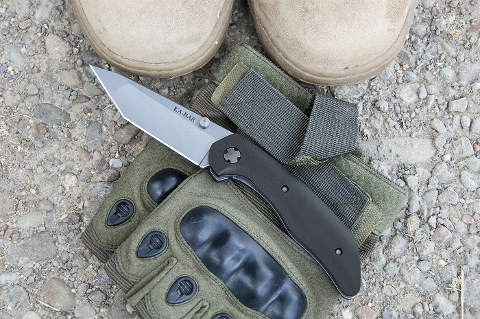 KA-BAR Jesse Jarosz Straight Edge Tanto Point Folding Knife