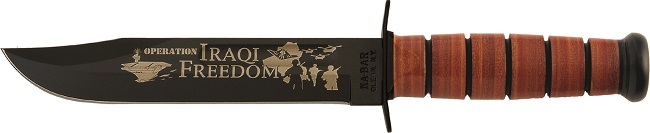 KA-BAR 9127 United States Army Iraqi Freedom Commemorative Fighting Utility Knife Honoring the Soldiers who served during the Iraq War..