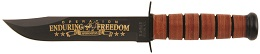 The KA-BAR 9168 United States Army Operation Enduring Freedom Afghanistan Commemorative Fighting Utility Knife Dedicated To All Who Served or Are Serving in Afghanistan. This Knife Is A Lasting Keepsake For Any Army Veteran Or Knife Collector.