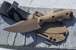 KA-BAR BECKER BK18 HARPOON KNIFE & AMERICAN MADE CELCON SHEATH
