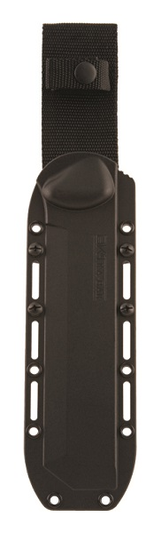 KA-BAR BECKER Specially designed BK3 Black heavy-duty plastic tactical hard shell sheath with multiple mounting and lashing ports.