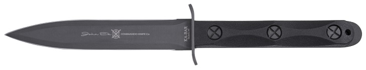 The KA-BAR John Ek Fighting Commando Knife EK44 Model 4 Double Edge Knife Made Exclusively In Olean, New York.