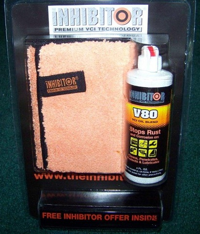 The INHIBITOR Premium VCI Oil Blend V80 for ultimate corrosion protection.