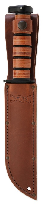 High Quality Leather Dog's Head Embossed Sheath, Stitched & Riveted For Strength & Durability.