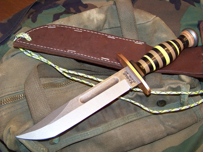 Ka Bar Wwii Pacific Theater Knife With Steel Blade