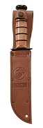 KA-BAR U.S.M.C. Eagle, Globe & Anchor Embossed Leather Sheath