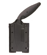 The KA-BAR Large TDI Friction Release Sheath Features Pre-Mounted Molle Belt Straps with Velcro and snap closures.