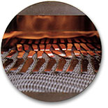 Heat treating the steel, also known as tempering strengthens the steel to its designated HRC rating.