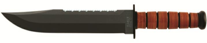 KA-BAR 2217 BIG BROTHER Leather Handle Fighting Utility Knife / Full Tang Construction of 1095 Cro-Van Steel