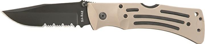TOMAR'S KA-BAR KNIVES-3053 MULE Desert Tan Combo Edge