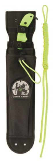 KA-BAR 5705 Molle compatible Zombie Killer Fixed Blade Cleaver Sheath with Front Stuff Pouch, Zombie Patch, and Extra Lashing Cord.