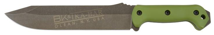 KA-BAR BK39 Clear Coat Large Full Tang 1095 Cro-Van Steel Straight Edge Combat Bowie Knife with Extended Pommel.
